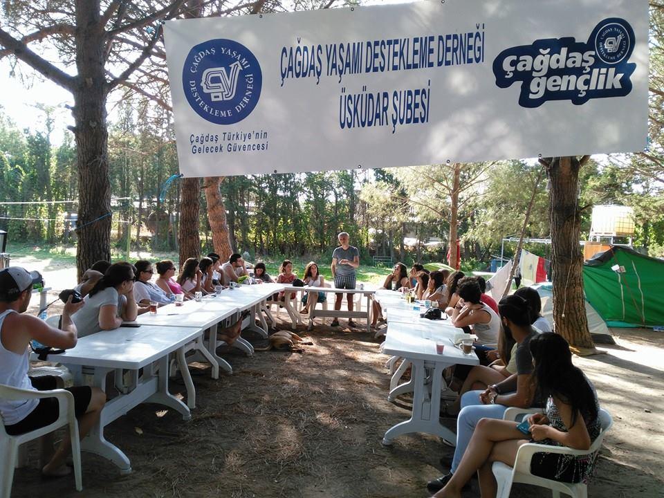 ÇYDD Çağdaş Gençlik Üsküdar Eğitim Yaz Kampı